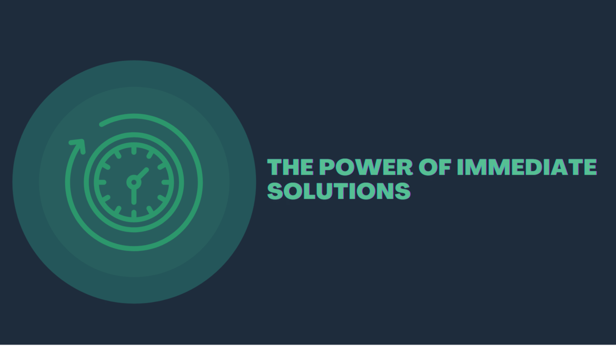 The power of immediate solutions